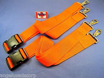 Medical Metal Hook Strap Emergency Spine Board Belt Stretcher Set 2 191-mayday