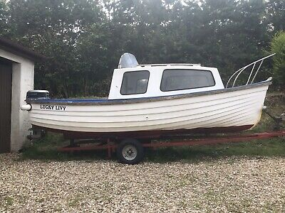 Fishing boat, 16 Ft Orkney Longliner, 20hp Evinrude Outboard, Trailer