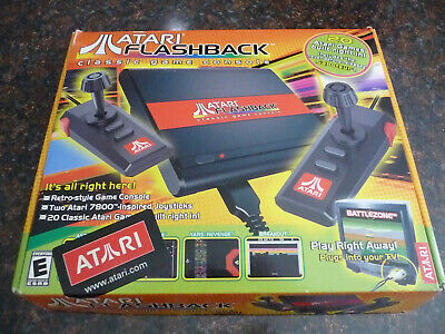 New Atari Flashback Classic Game Console Mini 7800 Complete Two Controllers New