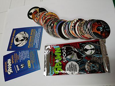 Spawn Spogz Series 1 Complete Set Of 54 Pogs   Wrapper