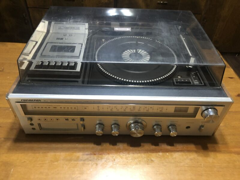 SOUNDESIGN PLL AM-FM Stereo Receiver 8 Track Cassette Recorder Model 6949