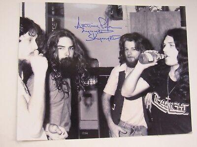 Lynyrd Skynyrd Signed 11 X 14 Artimus Pyle With Steve Gaines Leon Wilkeson Gary