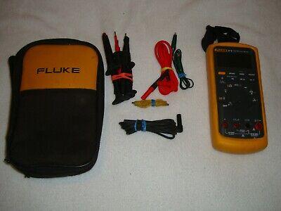 Fluke 87-v Industrial True Rms Digital Multimeter W Leads Soft Case