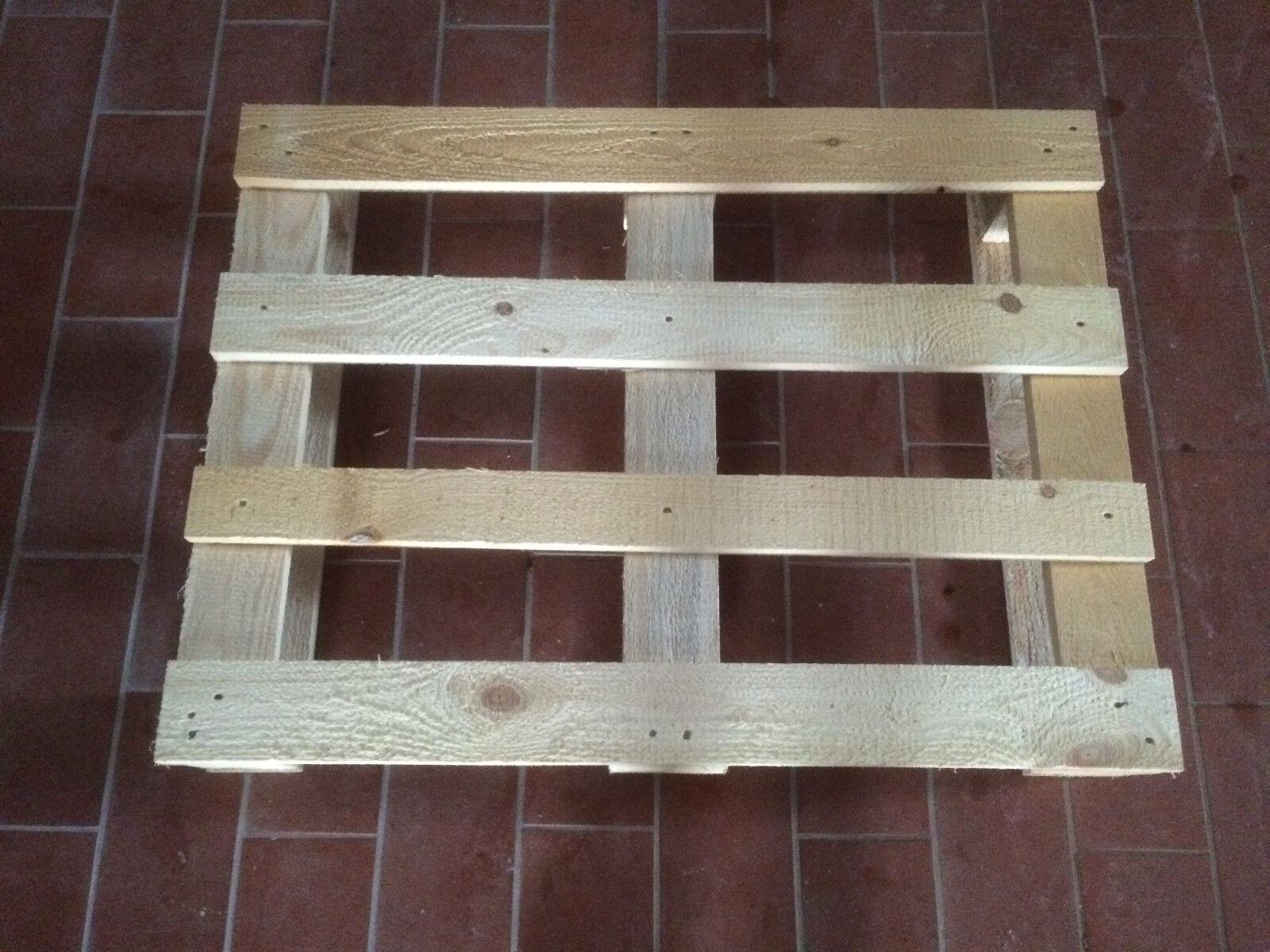 4 Stück Einwegpaletten - Holzpalette 60x80cm Stabil NEU!