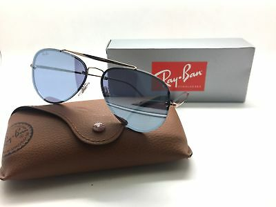 Ray-Ban flat lens BLAZE RB3584N 9053/1U Bronze Copper Violet Mirror Sunglasses