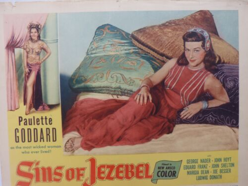 Sins of Jezebel, 11x14, Lobby Card,Year 1953, Paulette Goddard