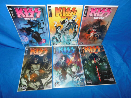 KISS THE  END #1-5 Complete Series Set  1, 2, 3, 4, 5 DYNAMITE 2019