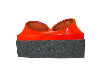 Triple 10 fiberglass sub woofer speaker box enclosure carpeted MDF case BLACK
