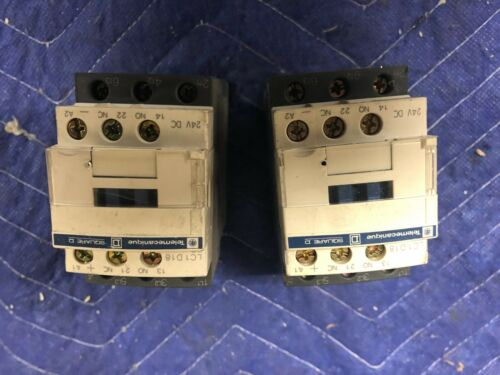2x Used TELEMECANIQUE CONTACTORS LC1D18BD 24V COIL 7,5KW 32A AMP