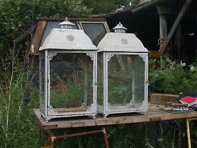 2 garden lamp enclosures or maybe parrot cages
