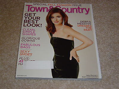 Debra Messing   Fall Fashion Issue September 2008 Town   Country Magazine