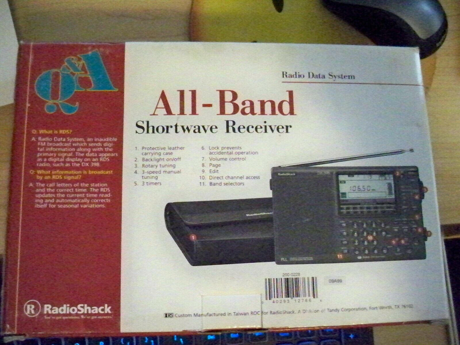 radio shack dx 398 all band shortwave