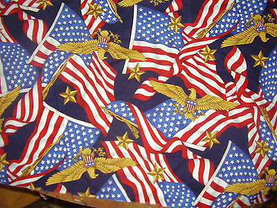 1 Yard~Eagles and Flags~Fabric~43