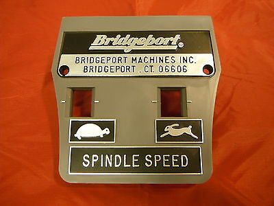 Bridgeport Mill Part Milling Machine Spindle Speed Plate 1182901 M1478