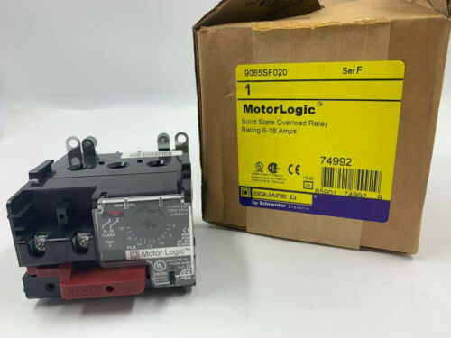 SQUARE D 9065-SF020 SOLID STATE OVERLOAD RELAY MOTOR LOGIC Ser F 9065SF020