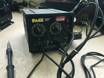 Pace Mbt 201 Pss 80a Soldering And Desoldering Station Complete 100 Functional.