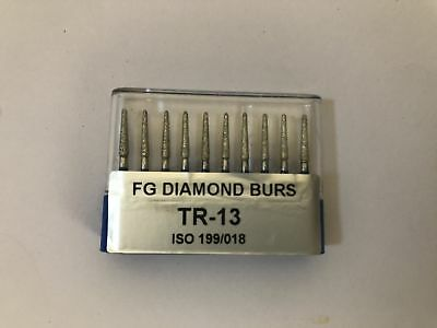 100 Pcs Dental Diamond Burs Mix Taper Round End Fg 1.6mm High Speed Handpiece