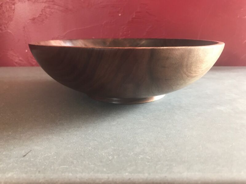 Hand Turned Walnut Wooden Bowl