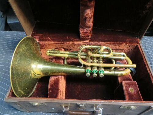 Olds Mellophone with case, Just Serviced, Ready to Play Stock #MP16