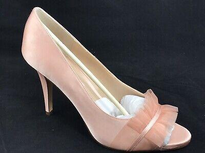 Nina Peep Toe Pumps (Nina New York Raizel Peep Toe Wedding Pump Heel Size 9.5 M Blush NEW)