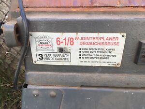 "Craftsman 6 1/8"" Jointer Planer"