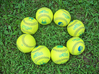 8 softballs Trump classic some only one hit on them!