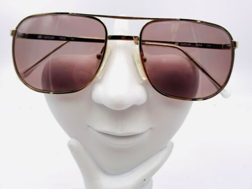 Vintage ArtCraft Gold Metal Aviator Sunglasses USA FRAMES ONLY