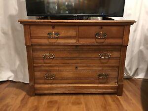 Antique Oak Dresser / Sideboard / TV Stand