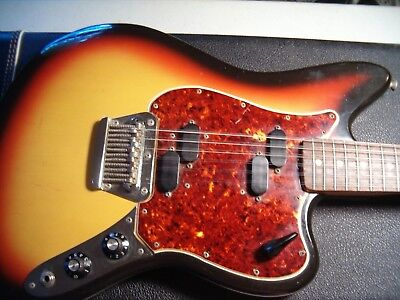 FENDER 1966 VINTAGE ELECTRIC XII 12 STRING GUITAR HOCKEY STICK HEAD ORIGINAL HSC