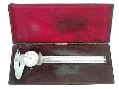 Vintage Mitutoyo 6 Dial Caliper No. 505-637-50 In Box