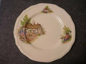 Alfred Meakin 'Cottage ' 6 side plates Cleveland Redland Area Preview
