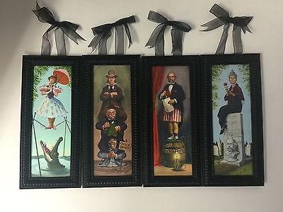 Disney Parks Haunted Mansion Stretching Portraits 4 Framed Canvas Print Set