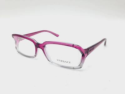 $350 VERSACE WOMENS PURPLE EYEGLASSES FRAMES GLASSES OPTICAL ITALY LENS MOD 3143