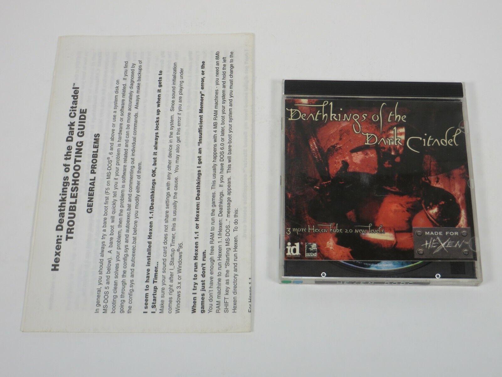 Computer Games - Hexen: Deathkings of the Dark Citadel (PC, 1996) PC Vintage Computer Game