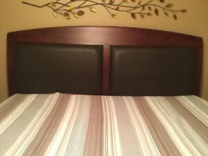 King Side Solid Wood Sleigh Bed Frame
