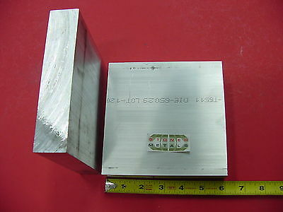 2 Pieces 1-14 X 6 Aluminum 6061 Flat Bar 6 Long Solid T6511 Plate Mill Stock