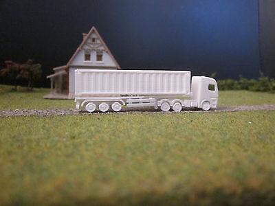 Sattelauflieger mit Iso-Container für spur Z, M 1:220