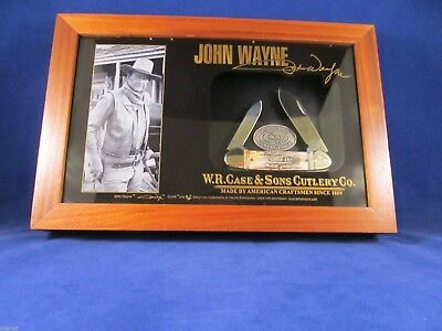 Case 2008 John Wayne Stag Canoe Knife Set Mint In Only 500 Made - Serial # 406