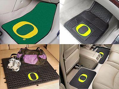 Oregon Ducks NCAA Vinyl Carpet Rubber Car Truck Auto SUV Floor Cargo Mats ()