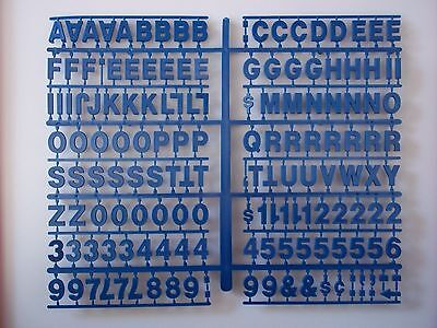 "New Blue 3/4"" Pepsi menu board letters & numbers!"