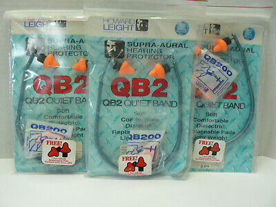 3 Howard Leight Qb2 Ear Plugs Hearing Protector1 Set Of Extra Ear Plugpods