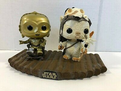 Funko POP! Star Wars Encounter On Endor 294 Movie Moments C-3PO Ewok LOOSE