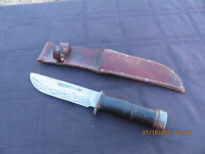 CATTARAUGUS 225 Q 2250 WW2 MILITARY COMBAT FIGHTING KNIFE W / ORIGINAL SHEATH