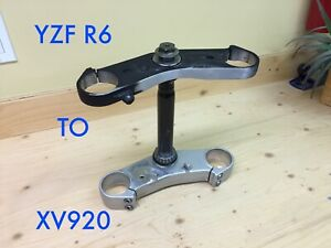 Triple tree forks conversion R6 upper lower clamp bolt on XV920