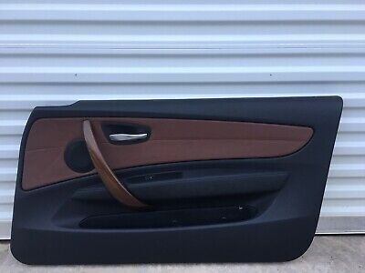 2008-2013 BMW 128i 135i E82 Coupe Brown Door Panel Trim Front Right Side OEM