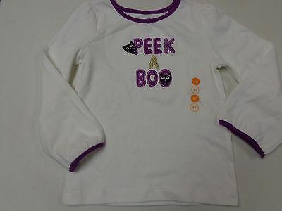 EN LINE PEEK A BOO EMBROIDERED LS  SHIRT  GIRLS  3T   3  (Halloween-line)