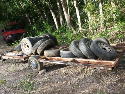 heap of 4x4 wheels toyota .suzuki.mitsubushi