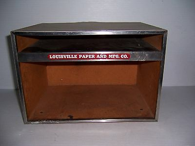 Vintage Louisville Paper And Mfg. Co. Advertising Desk Paper Organizer Tray Box