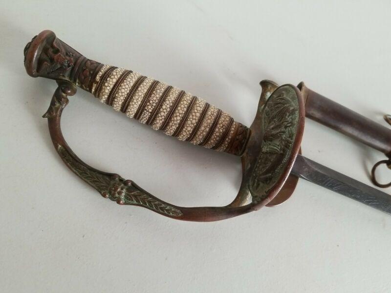 Horstmann Post US Civil War Model 1860 Staff & Field Sword w/Scabbard
