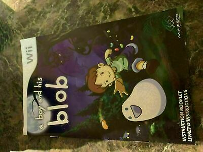 A BOY AND HIS BLOB - NINTENDO WII - INSTRUCTION MANUAL ONLY